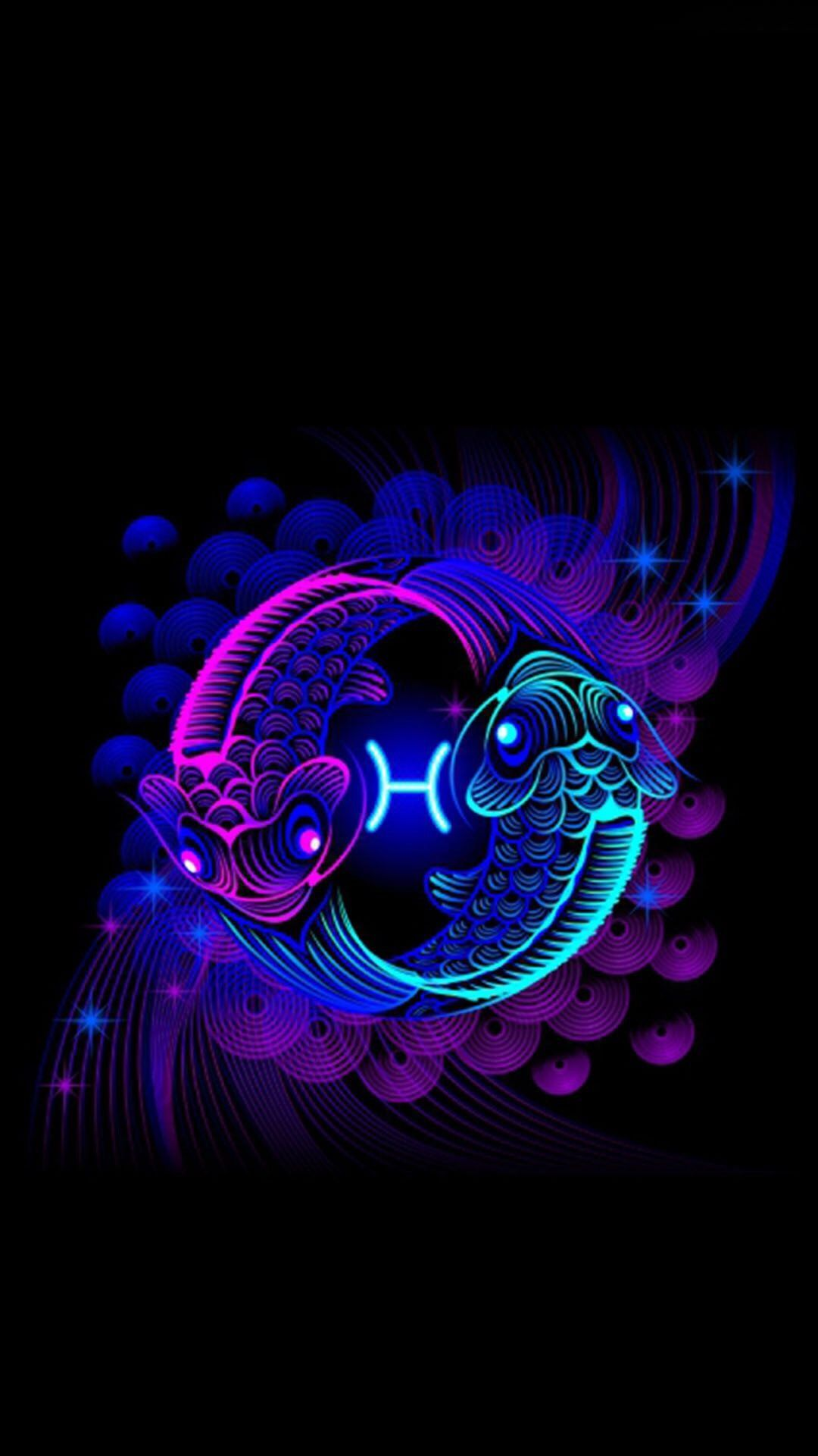Cute Wallpapers Pisces Yin Yang Profile Dolphins Blue Fish Fishing