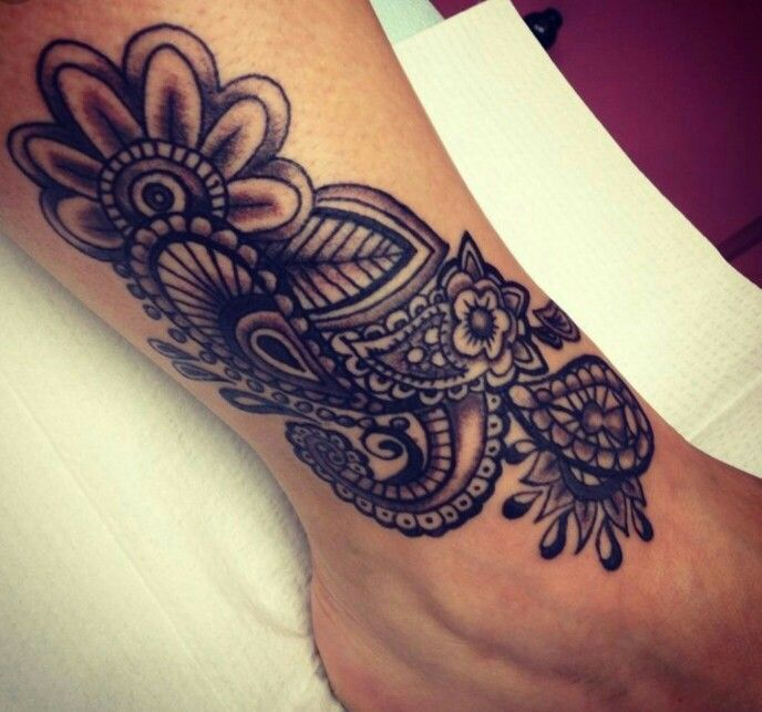 Ankle paisley tattoo ankle foot tattoo cover up ideas for Ankle tattoo cover ups