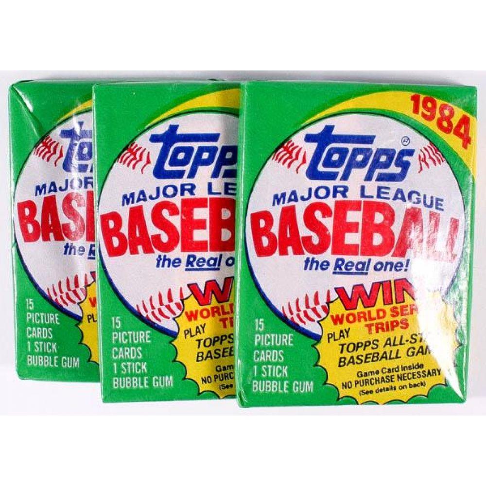 1984 topps baseball wax pack wrapper baseball cards