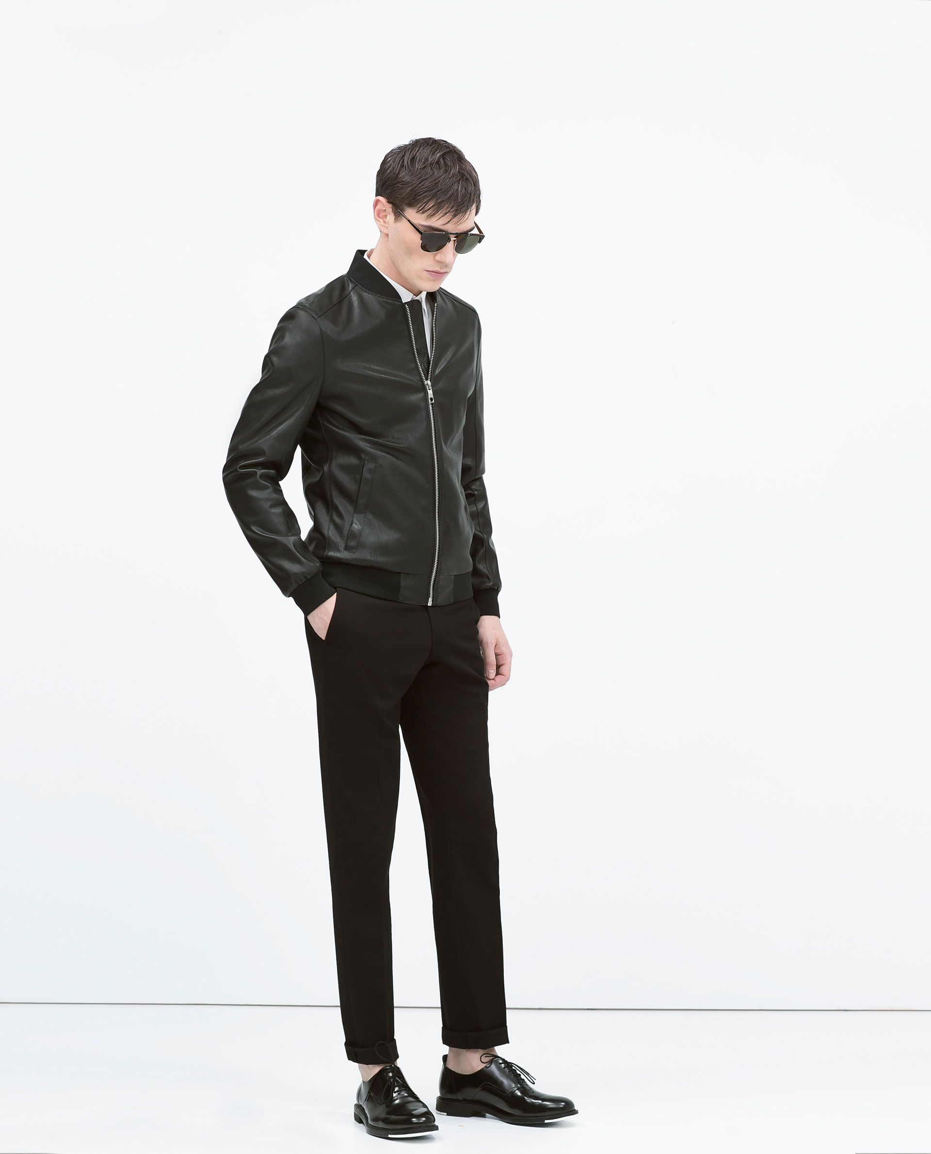 on feet at good looking buying now BLOUSON COLLÈGE PERFORÉ - Blousons - HOMME | ZARA France ...