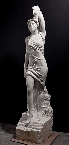 Spring By Marton Varo Carrara Marble 102 Inches Tall Mv12 Nghệ Thuật
