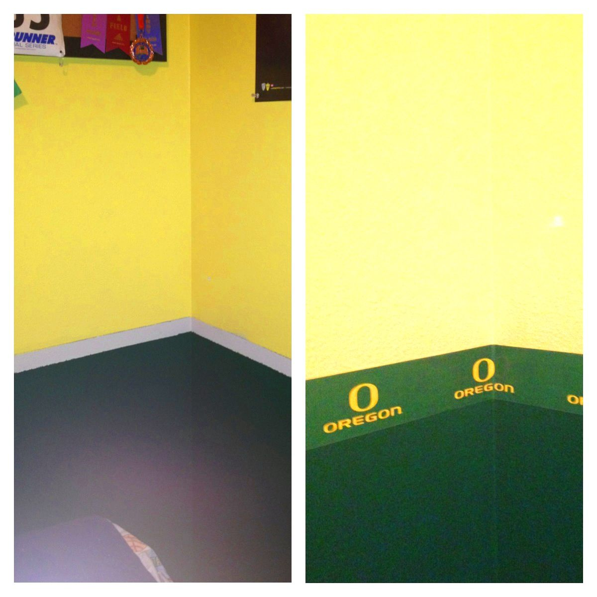 We Needed To Tie The 2 Paint Colors Together. With Rounded