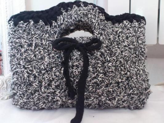 ezebee - Handtasche schwarz-weiß