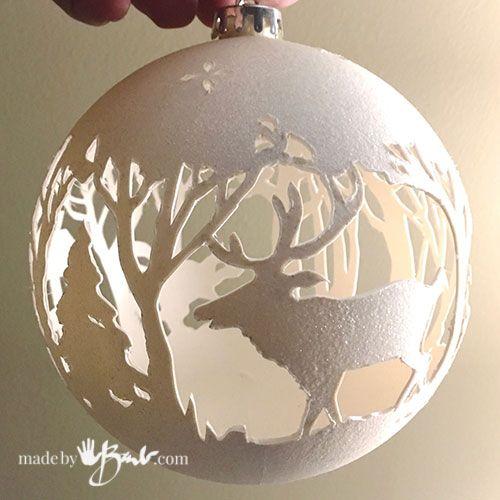Unique Christmas Ornaments.Hand Cut Filigree Christmas Ornaments Christmas