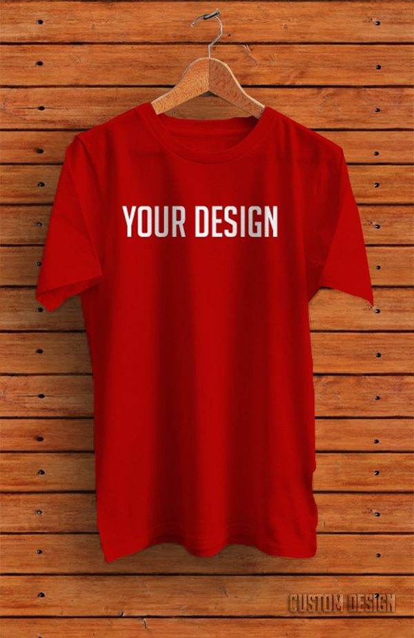 7f8fe564 51+ Awesome Free T-Shirt Mock-ups (PSD) | Psd mockups red | Shirt ...