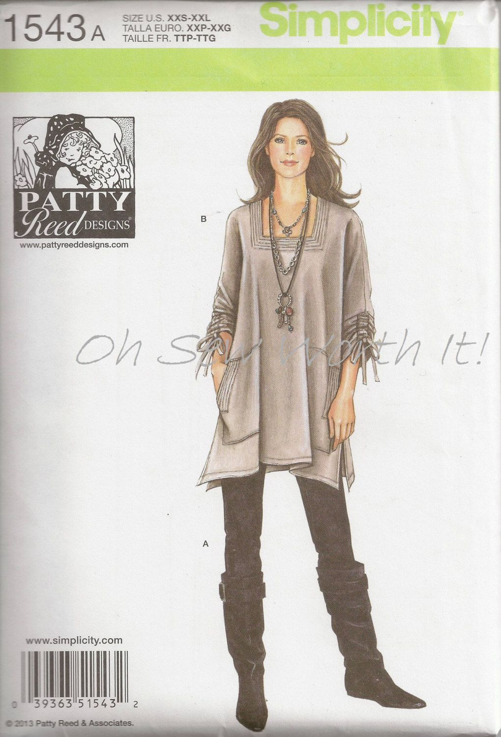 Simplicity 1543 Commercial Sewing PatternSewing by OhSewWorthIt ...
