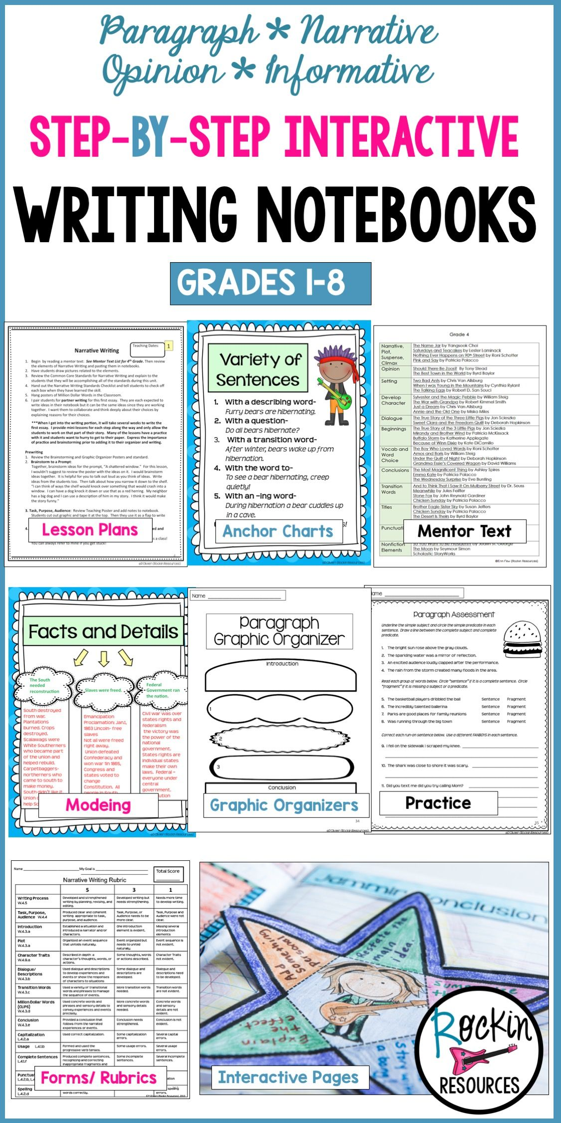 This NO PREP interactive writing notebook program is a COMPLETE ...