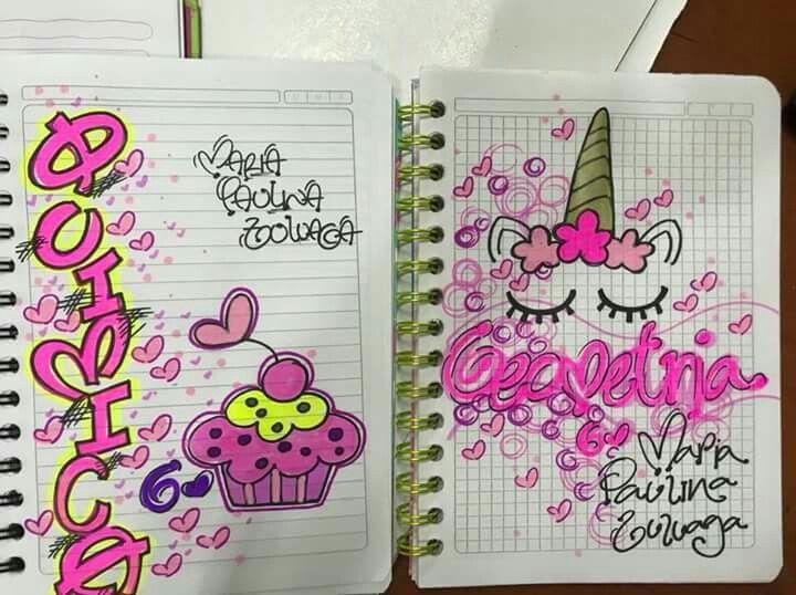 Portadas Para Decorar Cuadernos Libretas Y Agendas: Pin De Lucy Leon En Cuadernos Decorados