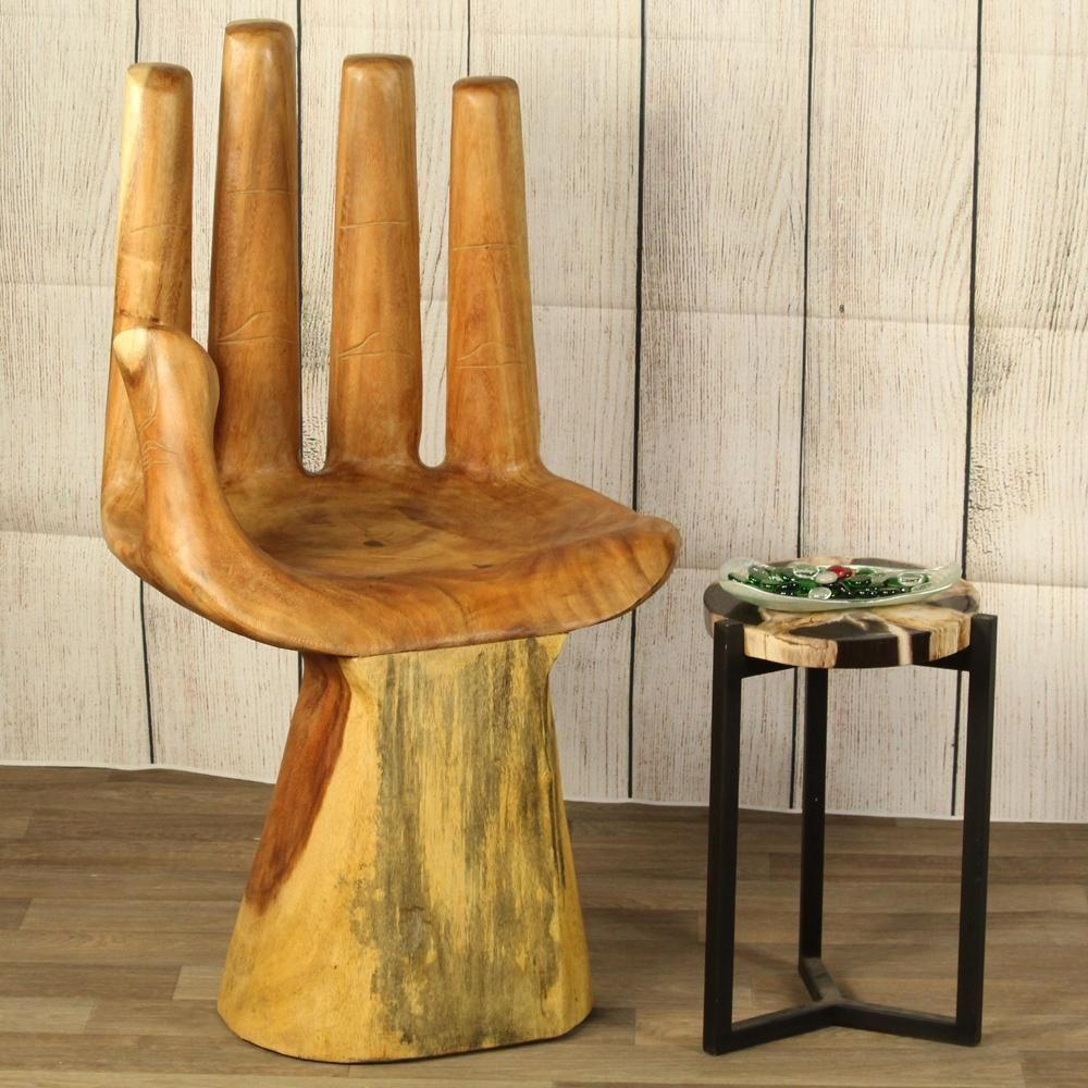 Buddha handshaped blessing chair large high back in