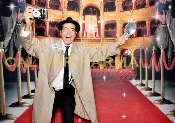 Fake Paparazzi to greet your Hollywood guests at the red carpet and make them feel like real vintage Hollywood stars.  Tel: 020 3602 9540 http://www.calmerkarma.org.uk/