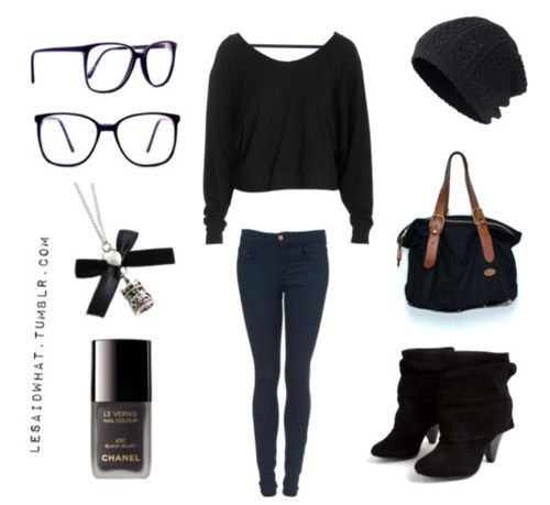 casual outfits - gotta love black | My Style | Pinterest | Black ...