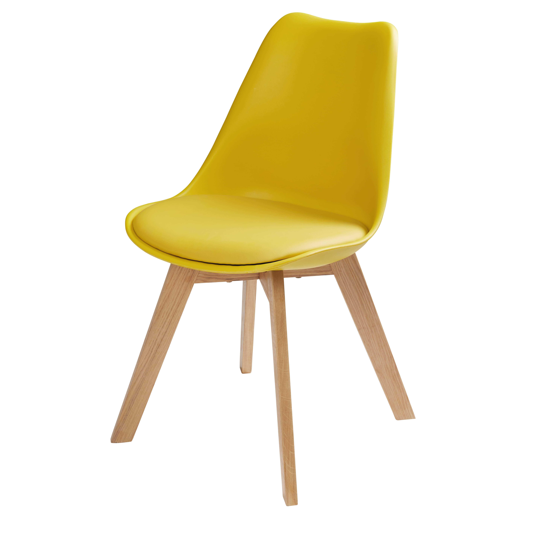 Chaise jaune moutarde et pieds en chêne Ice | salon | Pinterest ...
