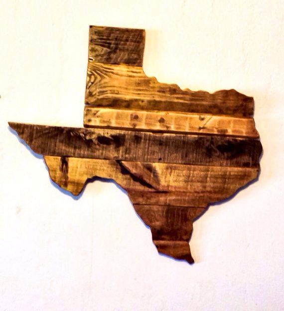 Reclaimed Wood Texas Sign   Texas Wall Art   Texas Decor   Rustic Wall  Decor