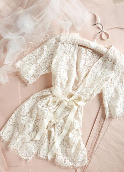 lace robe.