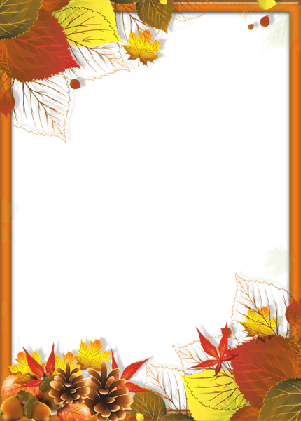 Transparent Fall Png Frame With Leaves Fall Arts And Crafts Fall Frames Fall Borders