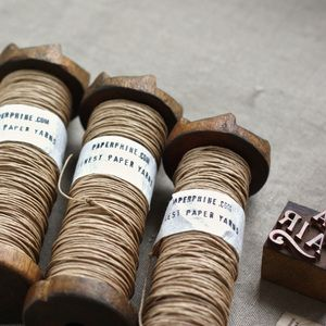 Paper twine on vintage bobbins t e x t i l twine pinterest twine thread spools y - Desvan vintage ...