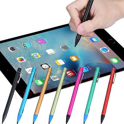 """This stylus makes it possible to hit menus on 7"""" full windows tablets. It's hard to hit the correct menu item on those, because they're so small. A mouse may be the best option, but this one works better than most other options. It has a rechargeable battery.  Search terms: capacitive styles 2.3mm"""