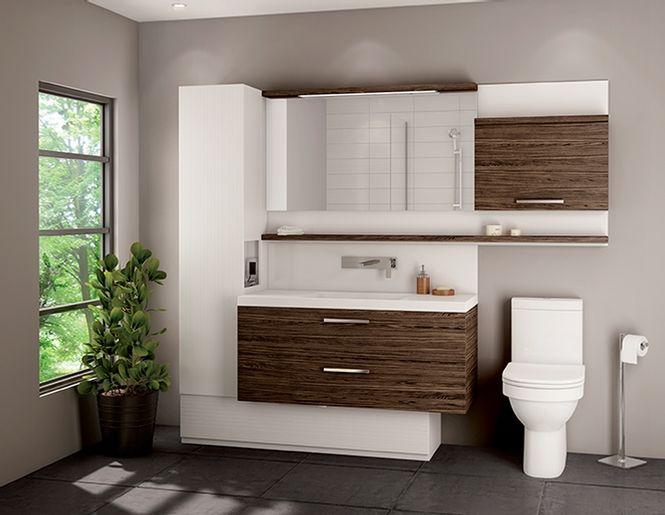 Vanit duo vanico maronyx for Meuble lavabo salle de bain montreal