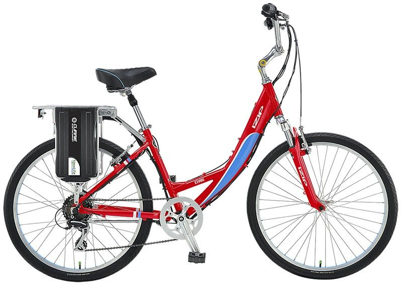 Currie Izip E3 Vibe Ls Lithium Ion Lifepo4 6 4ah Red Low Step Electric Bicycle Bicycle