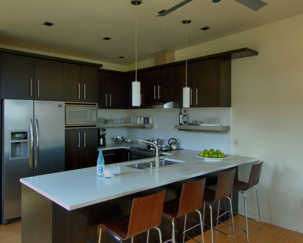 Exceptionnel Compact Kitchen With Dining Counter In Stillwater Dwellings Prefab Modular  Home Located In Rural Utah.