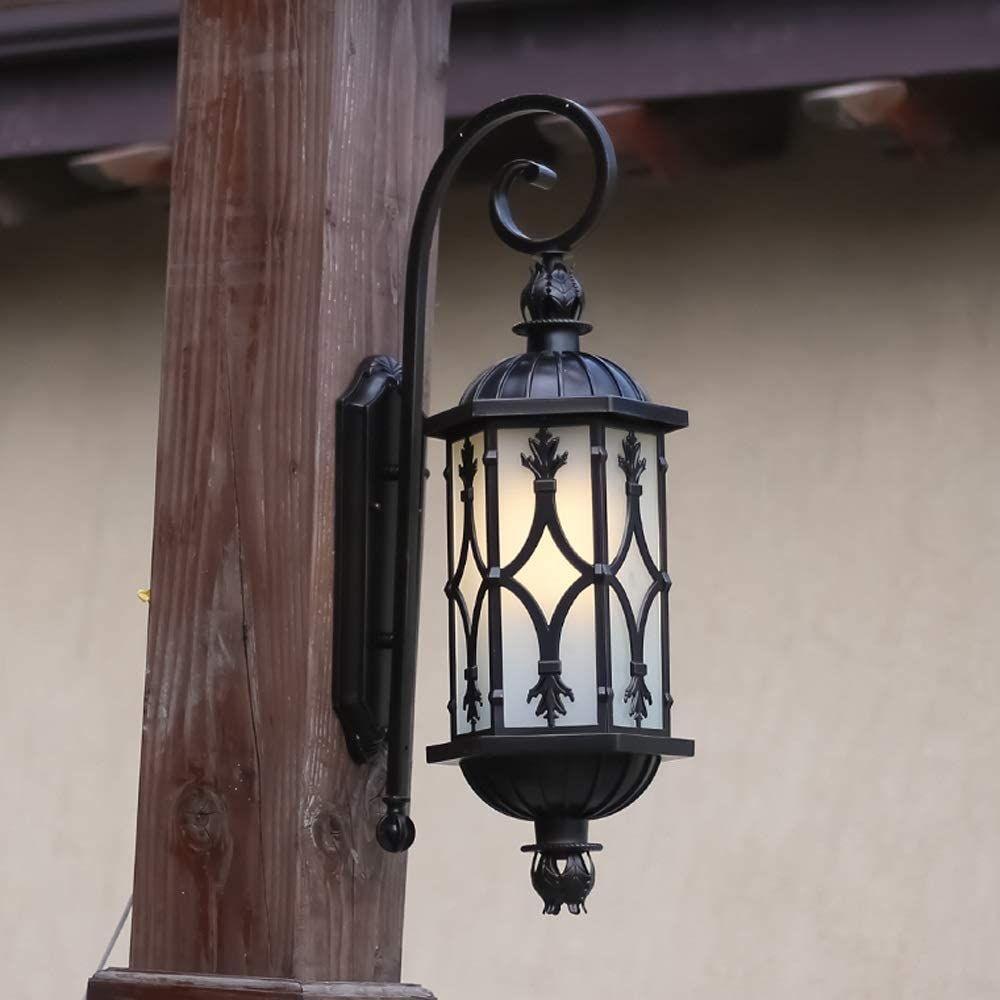Modeen European Single Head Glass Outdoor Wall Light American