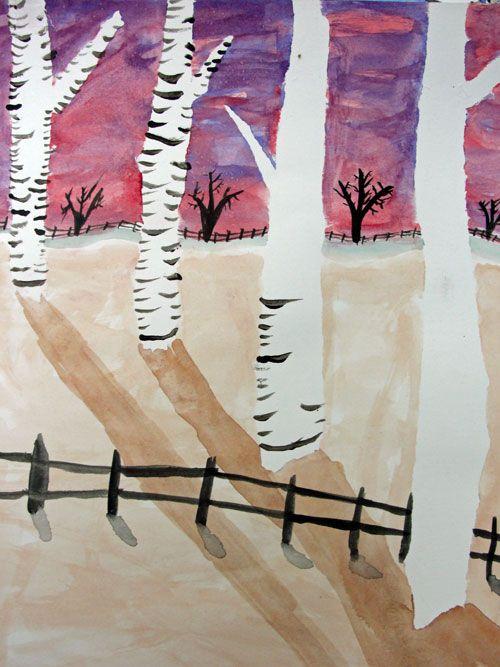 Watercolor Birch Trees Lesson Landscape Art Lessons Birch Tree
