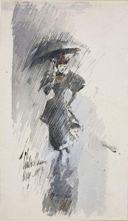 Childe Hassam, Woman with Umbrella, 1893