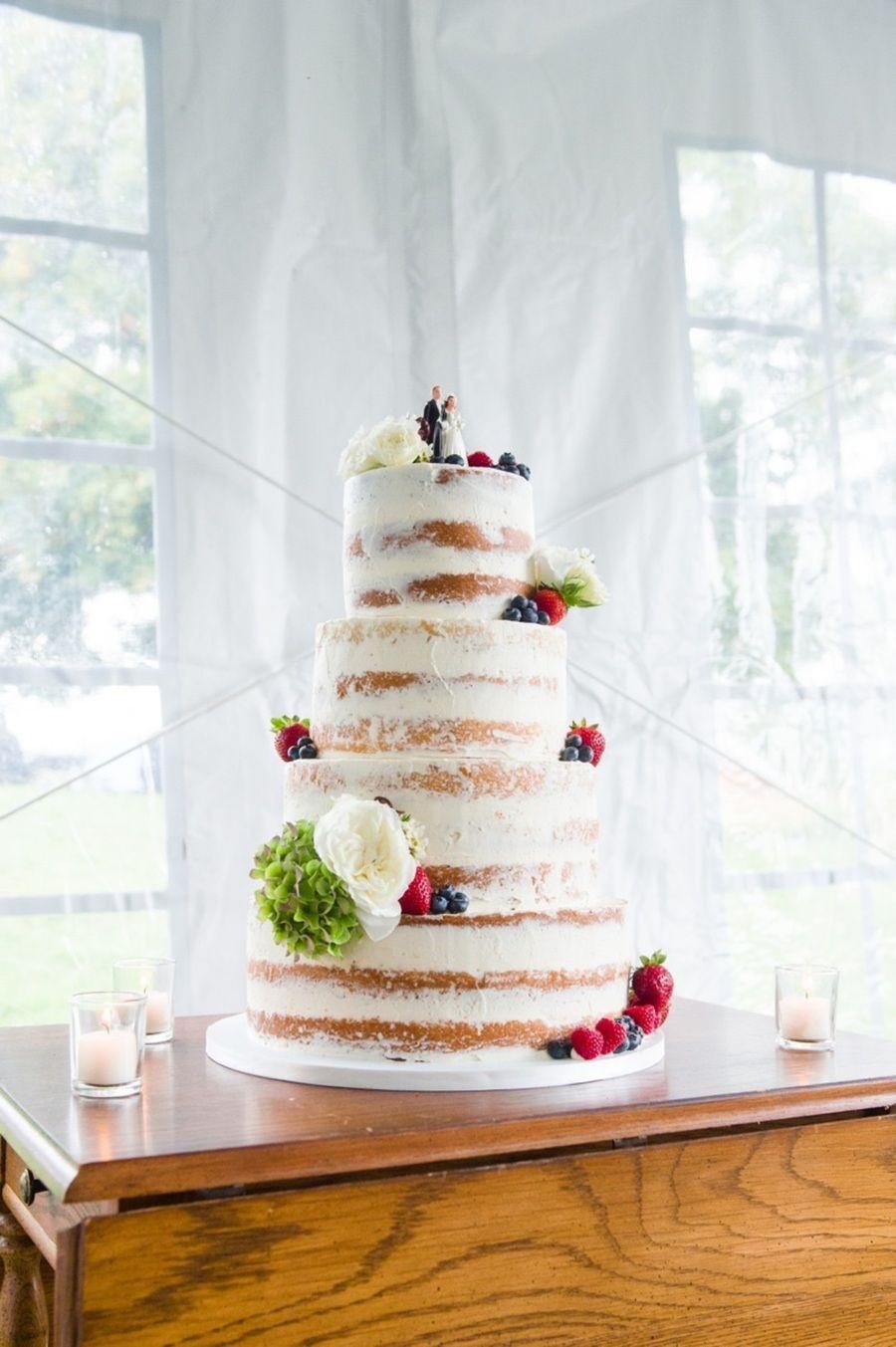 Half Naked Wedding Cake Half Naked Wedding Cake #naked #naked-cake ...
