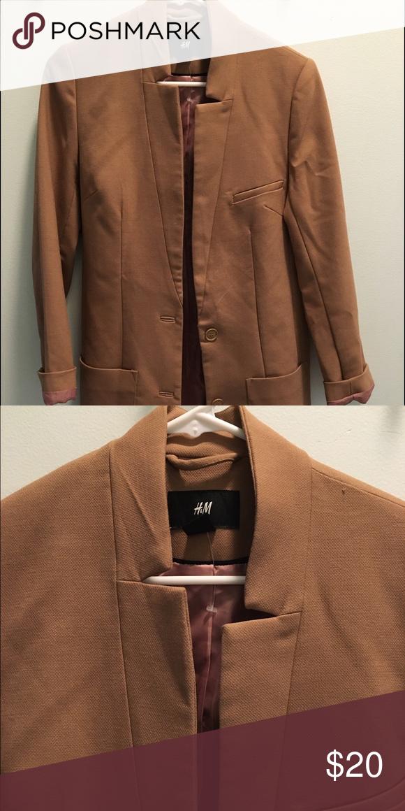 Tan blazer From H&M Heavy blazer-like Jacket. Pink inline. Brand new! H&M Jackets & Coats Blazers