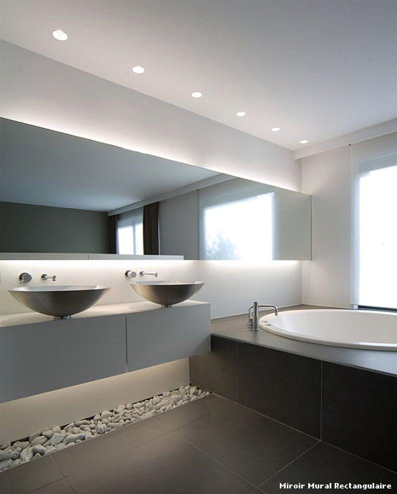 salle de bain contemporaine beautiful luxe gallery 3 - Miroir Mural Salle De Bain