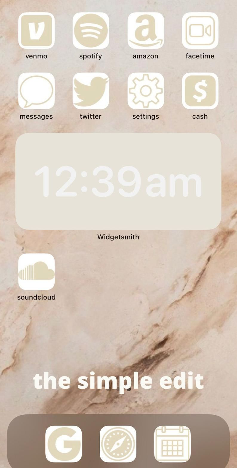 95 Beige Iphone Ios 14 App Icons Covers 95 Beige Social Etsy In 2020 Homescreen Iphone Homescreen App Icon