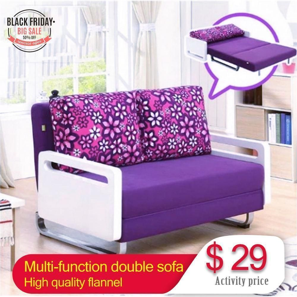 2m Foldable Living Room Small Apartment Home Sofa Bed Multi