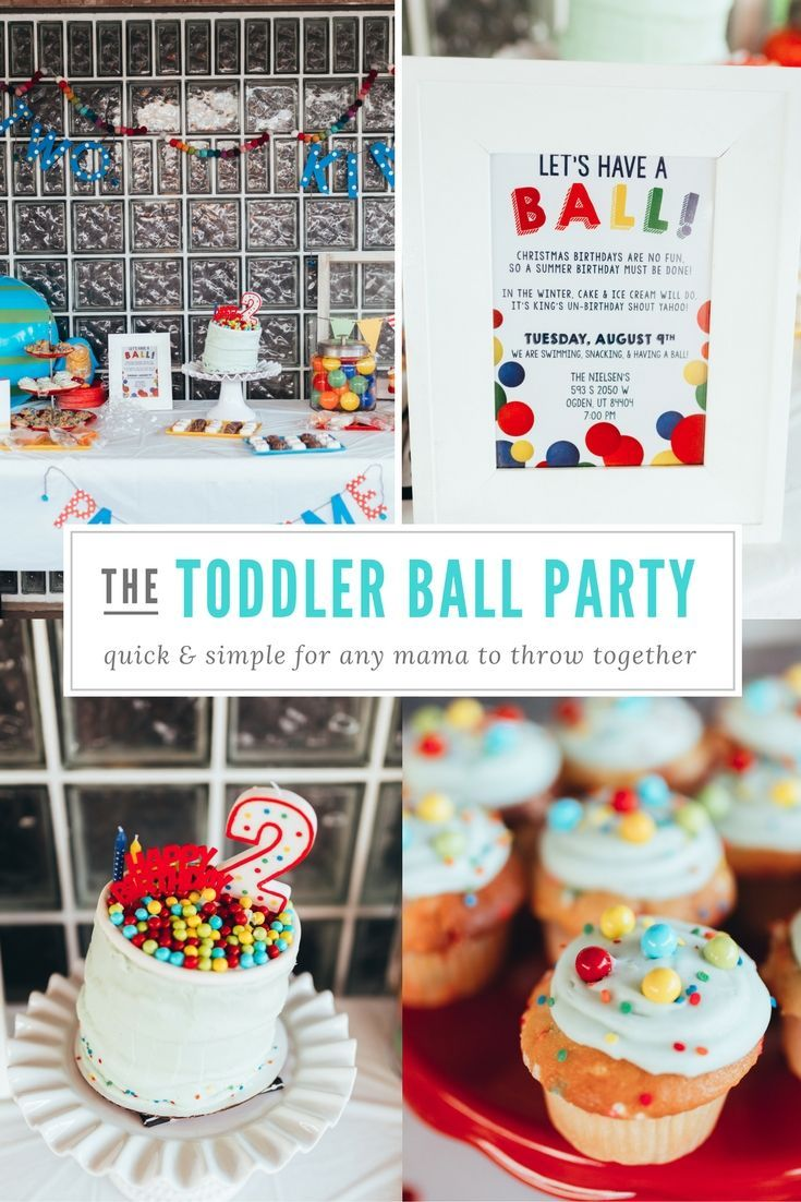 The Cutest Ball Party For Toddlers Or Kids I Love Bright Colors And How Simple It Is To Put Together