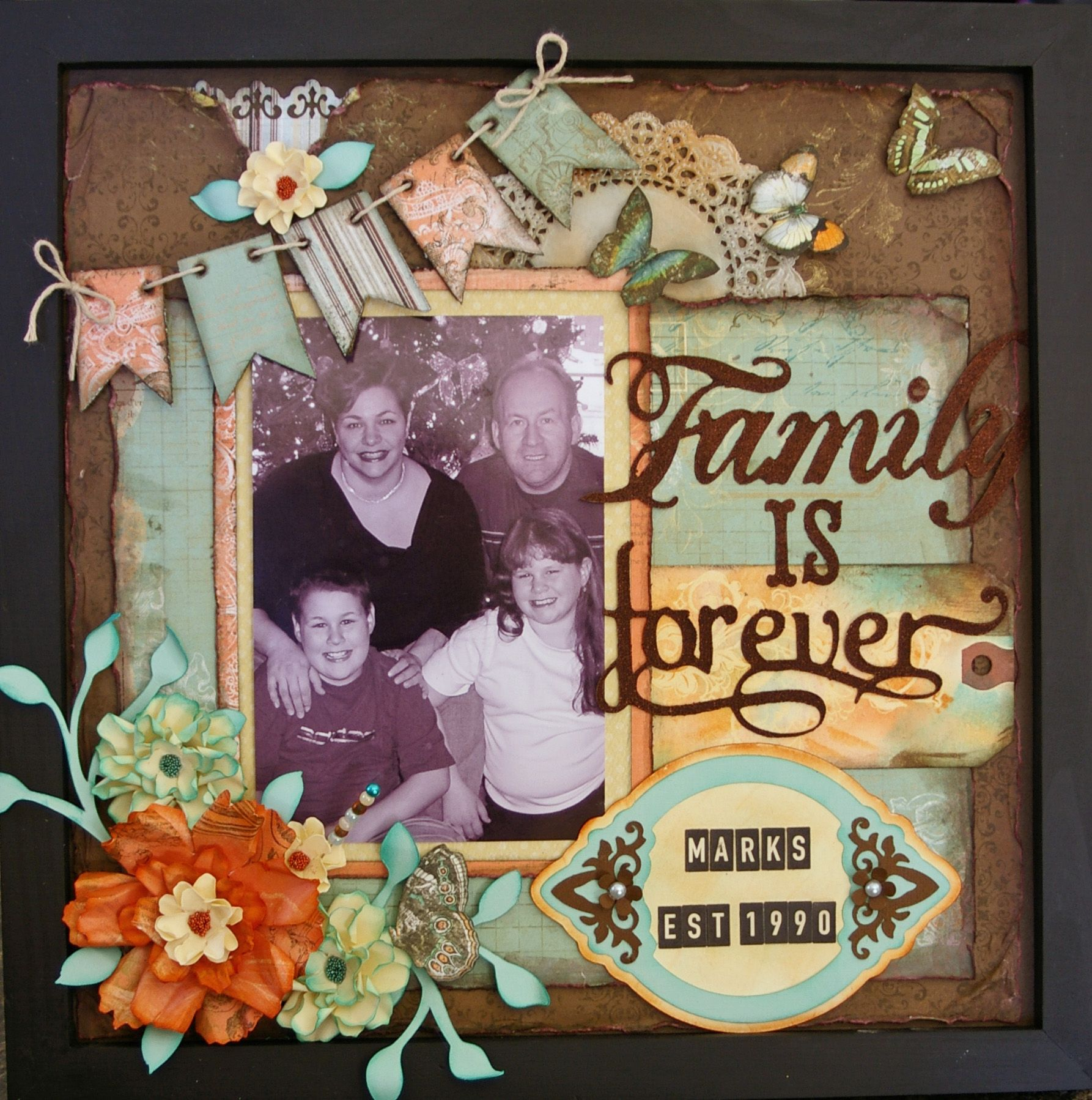 Family scrapbook ideas on pinterest - Great Idea Family Is Forever 3d Frame Scrapbook Com