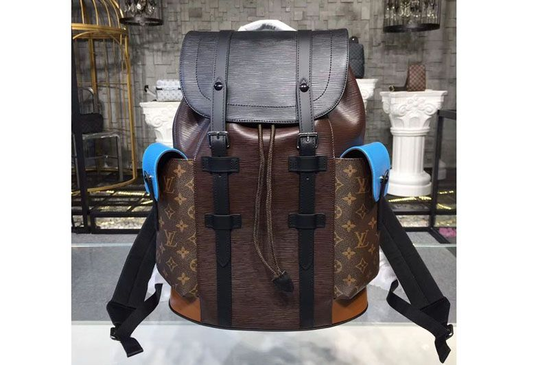 1976a249c3bf Replica Louis Vuitton M51458 LV Christopher PM Backpack Epi Leather With  Monogram Canvas … Continue reading →