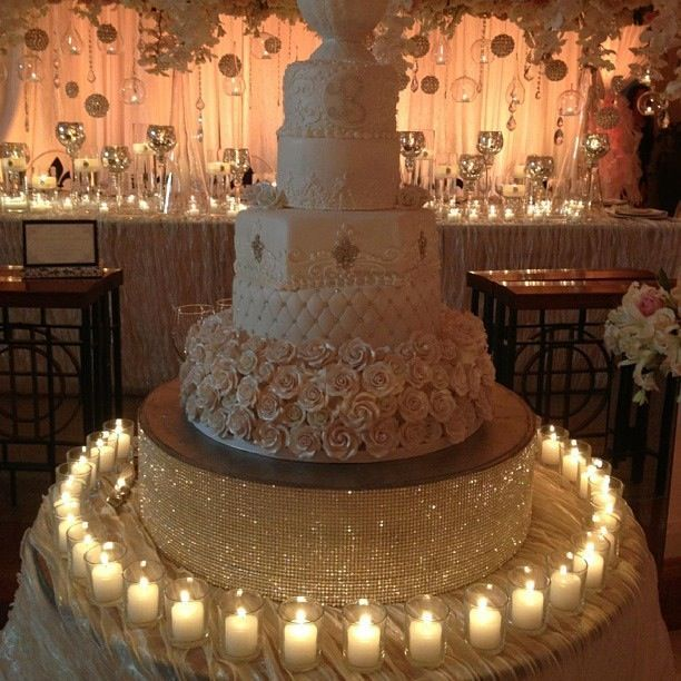 Bling Wedding Cookie Tables