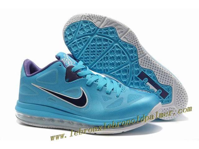 Nike Air Max Lebron 9 Low Shoes Blue Purple 2013