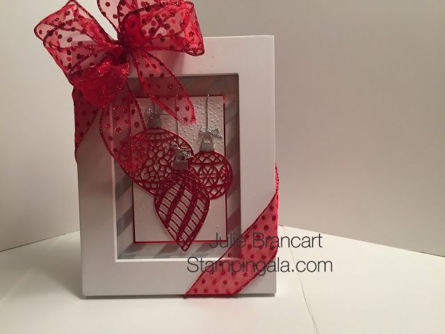 DELICATE ORNAMENTS CHRISTMAS FRAME, Christmas Decorating, Stampin Up Christmas