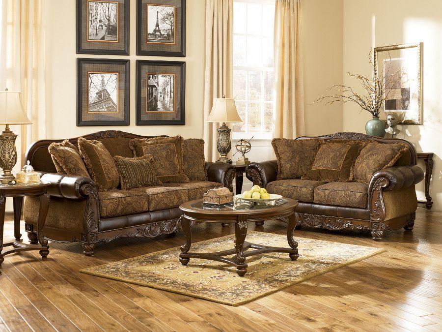 Old World Style Living Room Furniture Asian Interior Design Fresco Sofa Loveseat