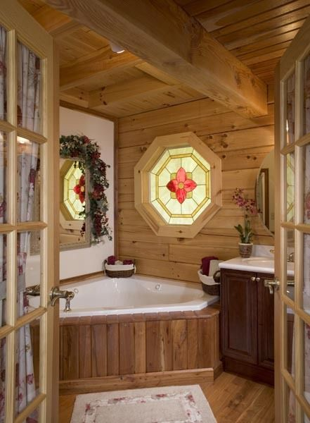 Corner Tub Honest Abe Log Homes - Photo Gallery Bath Ideas