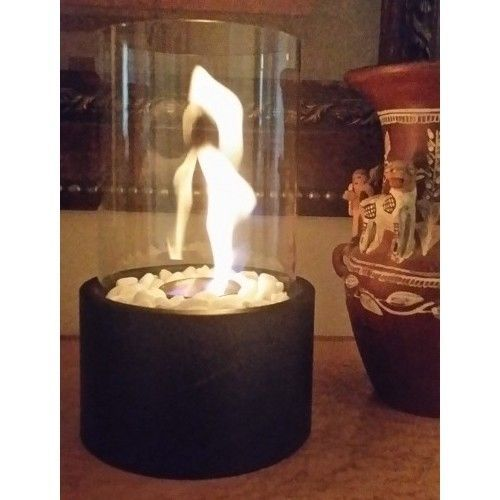 Portable Ethanol Biofuel Tabletop Fire Indoor/Outdoor Fireplace Real Flame  Gift