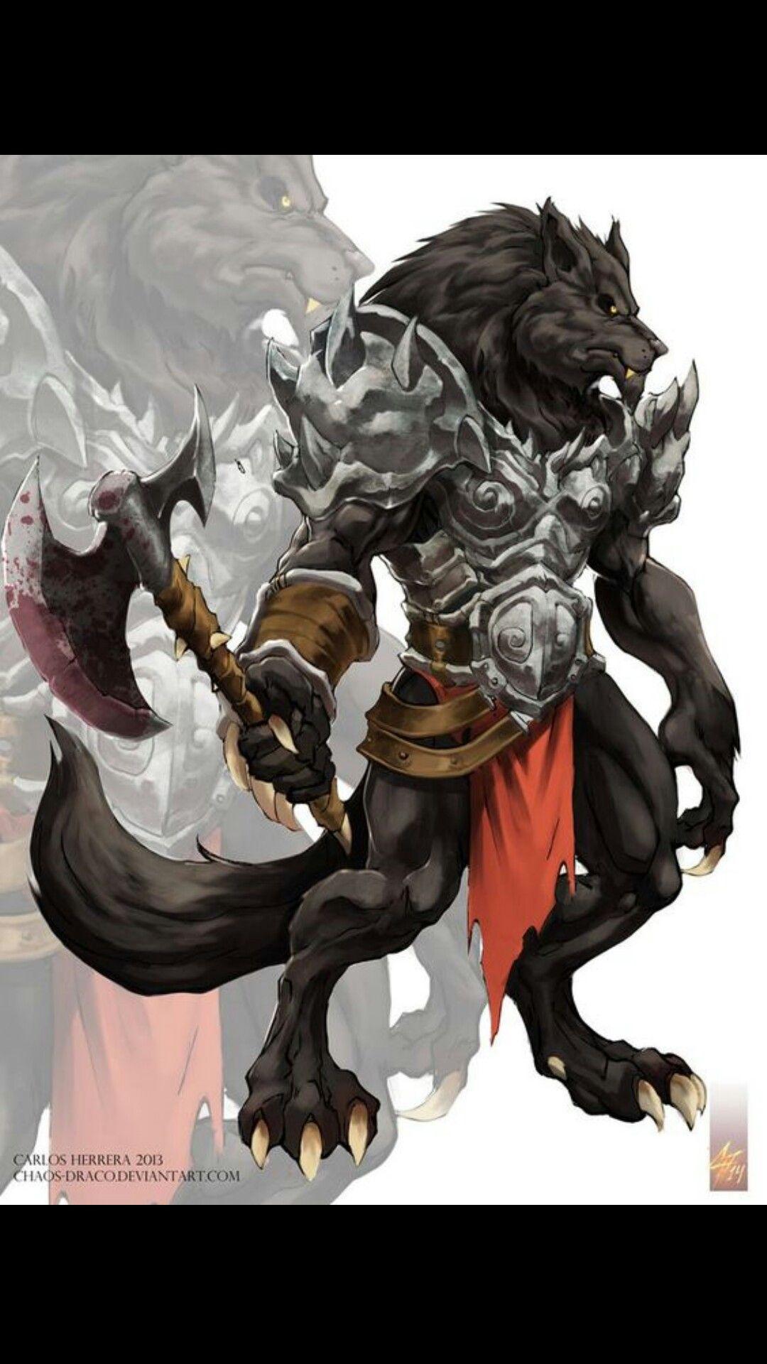 Werewolf Character art, Wolf warriors, Fantasy creatures