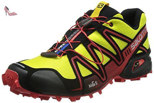 Salomon Speedcross 4, Chaussures à Randonnée Homme, Rouge (Radiant rouge/Black/Corona Yellow), 43 1/3 EU