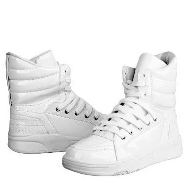 fashion casual solid color hightop skateboarding shoes
