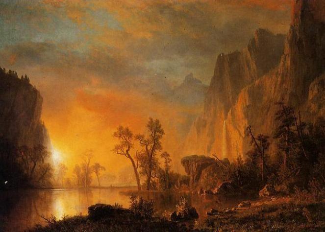 Famous Landscape Oil Paintings By Albert Bierstadt Albert Bierstadt Paintings Sunset Painting Famous Landscape Paintings