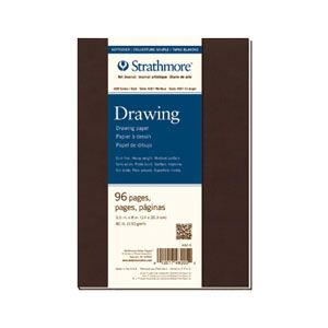 """Strathmore Series 400 Softcover Drawing Journal - 5.5""""x8"""", 96 pages, $28"""