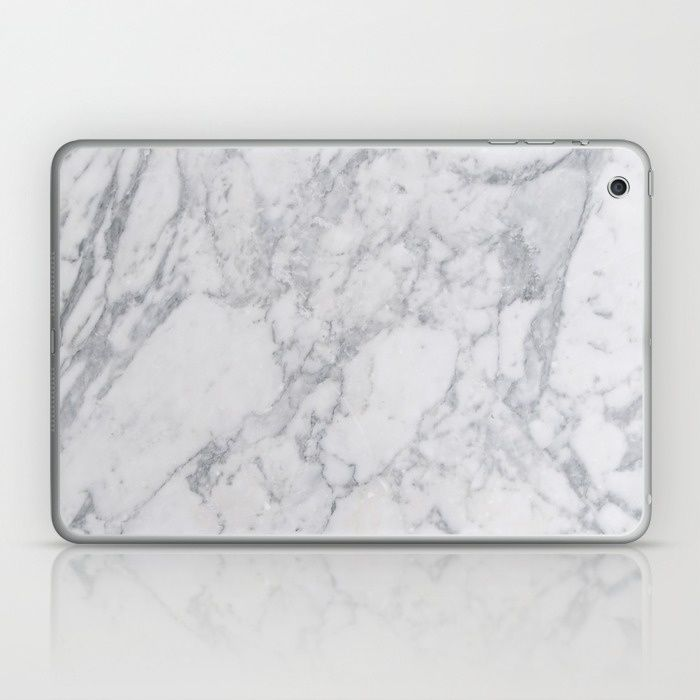 White Marble Laptop & iPad Skin, marble laptop, marble laptop skin, marble ipad, marble accessory, marble decor, marble trend, marble fashion