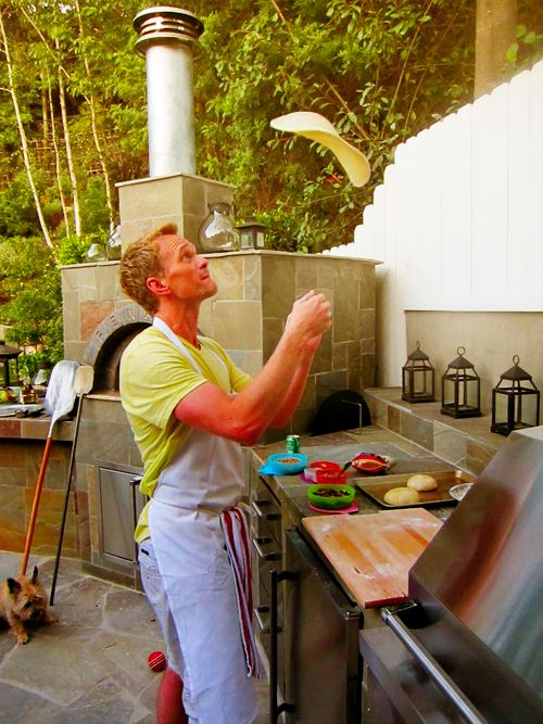 NPH using his backyard pizza oven Like a boss Clothes Pinterest