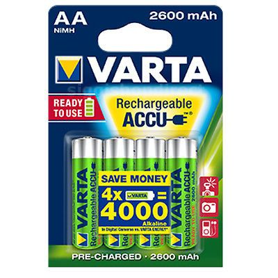 Varta Aa Nimh High Performance Rechargeable Batteries 2600mah 4 In Pack Nimh Rechargeable Batteries Aaa Battery Charger