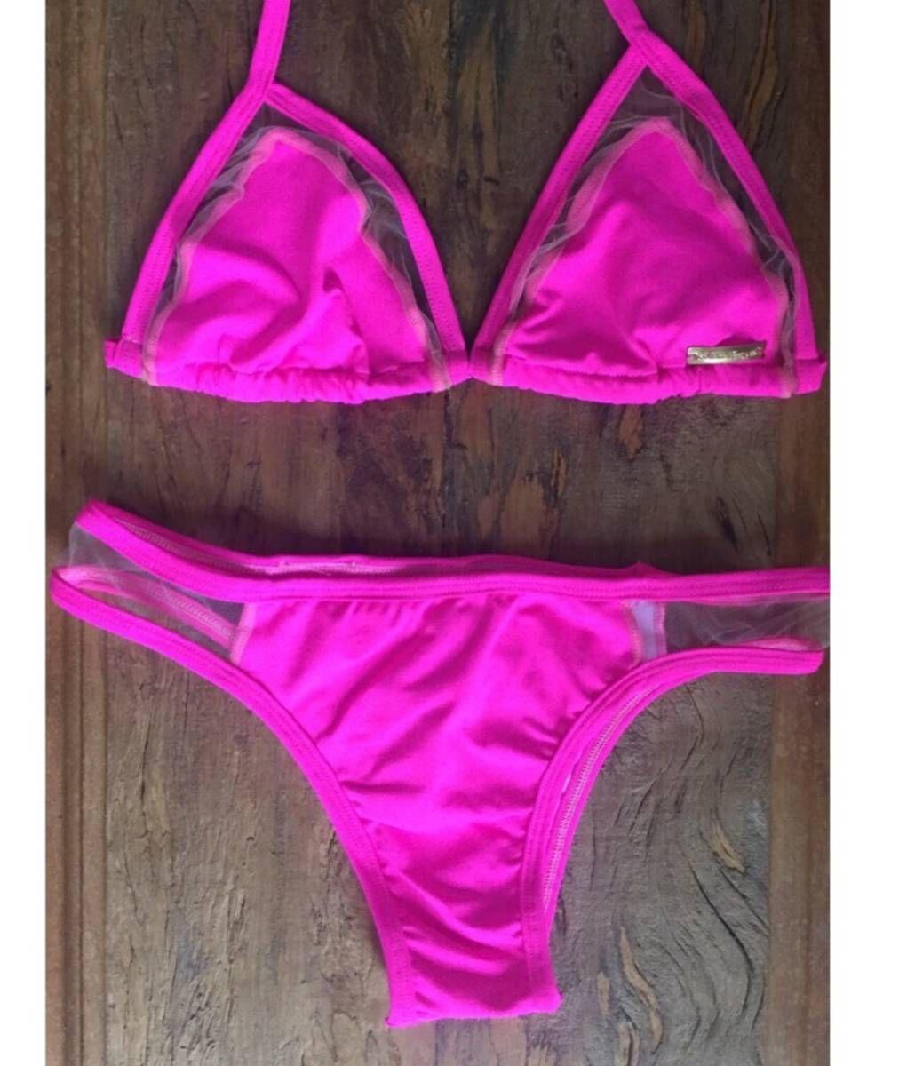 5ba44d70f0f57c Biquini tule neon | Croche | Biquini tule, Biquini e Moda praia feminina